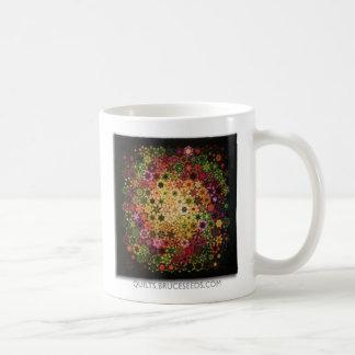 """Art Quilt Coffee Mug - """"Galactic"""" Basic White Mug"""