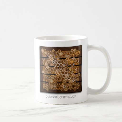 "Art Quilt Coffee Mug - ""Music"" Basic White Mug"