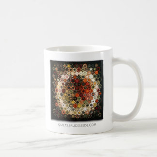 "Art Quilt Coffee Mug - ""No. 13 (The Ring)"" Basic White Mug"