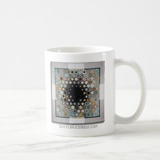 "Art Quilt Coffee Mug - ""Please Stand By"" Basic White Mug"