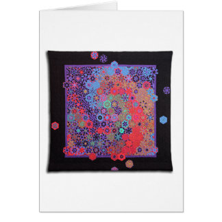 """Art Quilt Greeting Card - """"Cosmos"""""""
