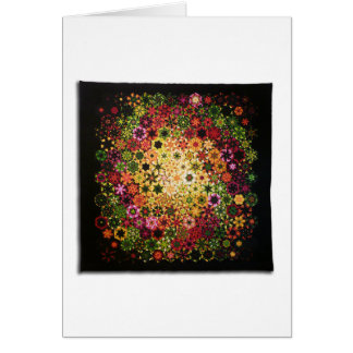 """Art Quilt Greeting Card - """"Galactic"""""""