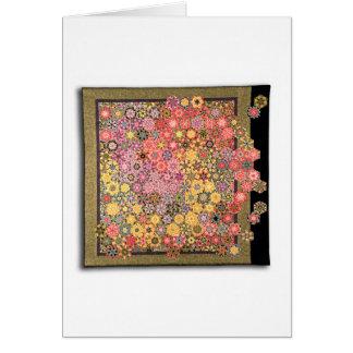 """Art Quilt Greeting Card - """"Garden"""""""