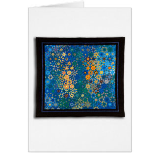 """Art Quilt Greeting Card - """"Reef"""""""