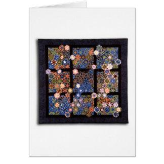 "Art Quilt Greeting Card - ""Skylight"""