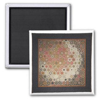 "Art Quilt Magnet - ""Luna"" 2 Inch Square Magnet"