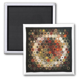 """Art Quilt Magnet - """"No. 13 (The Ring)"""" 2 Inch Square Magnet"""