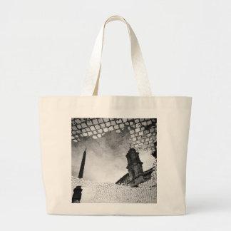 Art reflected large tote bag