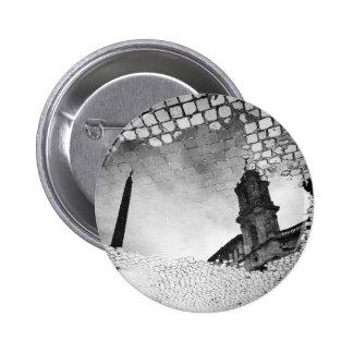 Art reflected pinback button