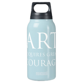 Art Requires Great Courage Insulated Water Bottle