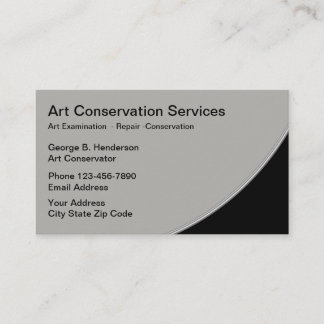 Art Restoration Services Business Card