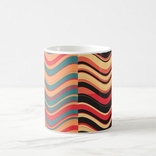 Art Retro Colorful Wave Abstract Coffee Mug