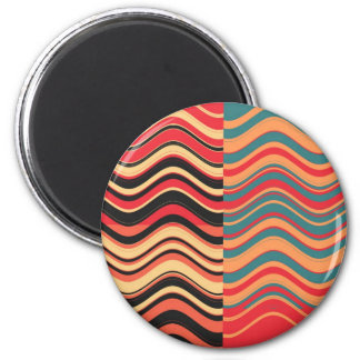 Art Retro Colorful Wave Abstract Fridge Magnet