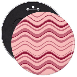 Art Retro Pink Wave Abstract Button