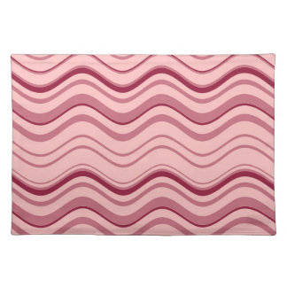 Art Retro Pink Wave Abstract Placemat