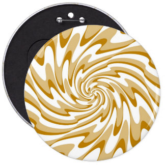 Art Retro Swirl Waves Abstract Button
