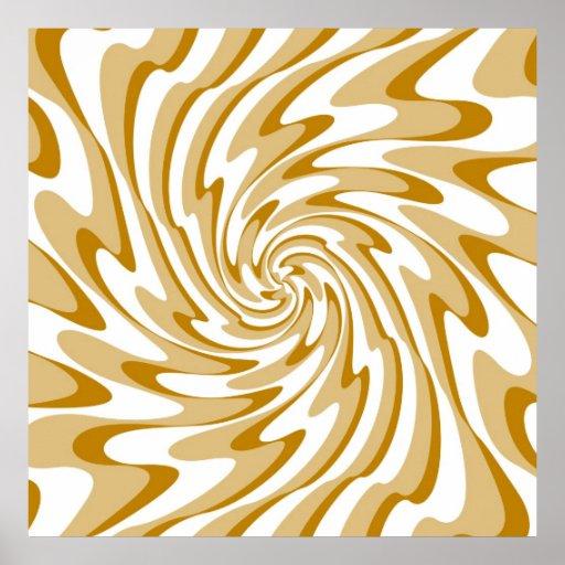 Art Retro Swirl Waves Abstract Print