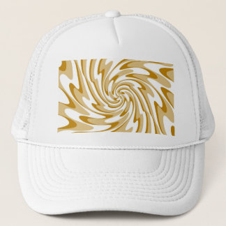 Art Retro Swirl Waves Abstract Trucker Hat
