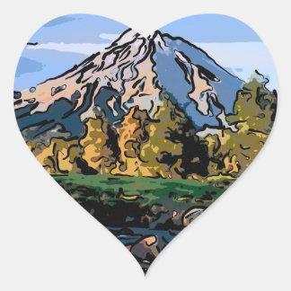 art-river heart sticker
