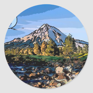 art-river classic round sticker