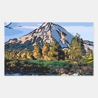 art-river rectangular sticker