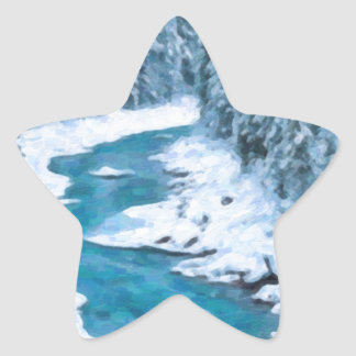 art- River Star Sticker