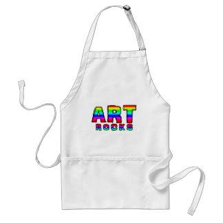 ART ROCKS ADULT APRON