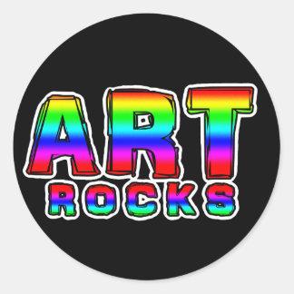 ART ROCKS CLASSIC ROUND STICKER