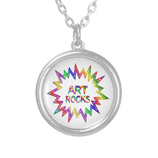 Art Rocks Silver Plated Necklace