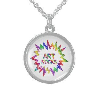 Art Rocks Sterling Silver Necklace