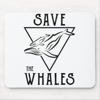 Art-savewhales Mouse Pad