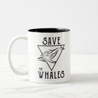 Art-savewhales Two-Tone Coffee Mug