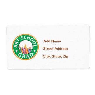 Art School Graduation Shipping Label