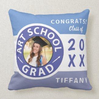 Art School Graduation Photo Throw Pillow
