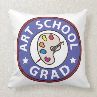 Art School Graduation Throw Pillows