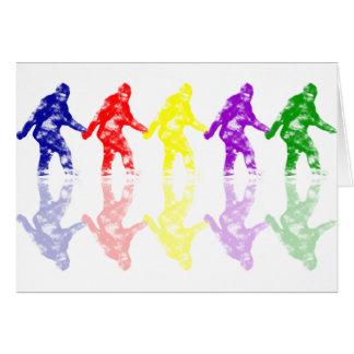 ART SCHOOL SQUATCH - Colorful Bigfoot Logo Card