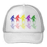 ART SCHOOL SQUATCH - Colorful Bigfoot Logo Trucker Hats