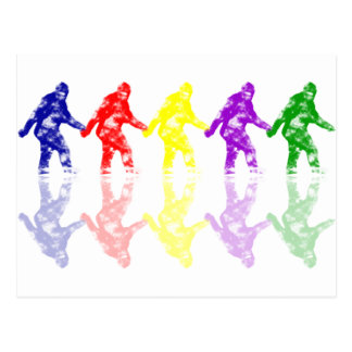 ART SCHOOL SQUATCH - Colorful Bigfoot Logo Postcard
