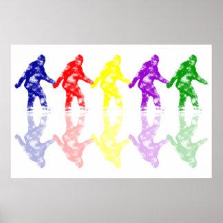 ART SCHOOL SQUATCH - Colorful Bigfoot Logo Poster
