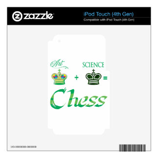 art+science=Chess iPod Touch 4G Decals