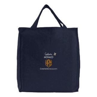 Art Shopping Bag: Galerie Monaco - ART Embroidered Tote Bag