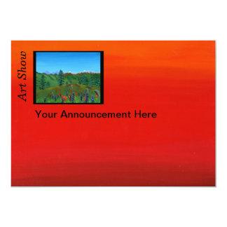 """Art Show Announcement 5"""" X 7"""" Invitation Card"""