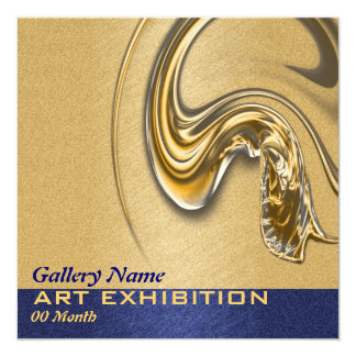 Art show exhibition opening CUSTOMIZE Card