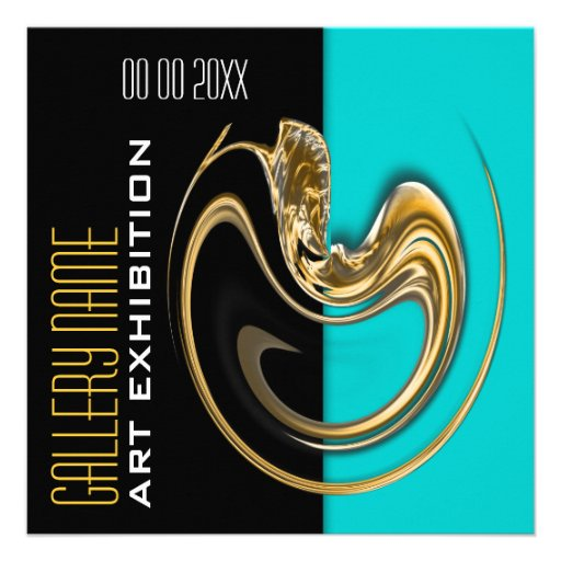 exhibition jewelry CUSTOMIZE Personalized Invitations from Zazzle.com