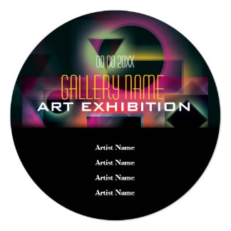 Art exhibition invitations announcements zazzle art show gallery exhibition opening customize card stopboris Image collections