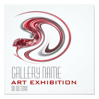 """Art show gallery exhibition opening CUSTOMIZE 5.25"""" Square Invitation Card"""