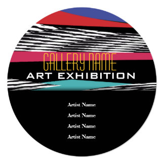 Art show gallery exhibition opening CUSTOMIZE Invitation