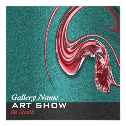 Art show gallery exhibition opening CUSTOMIZE Custom Invitations