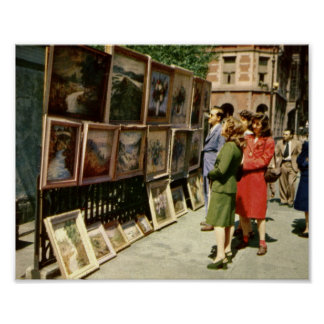 Art Show, Greenwich Village, New York City Vintage Posters