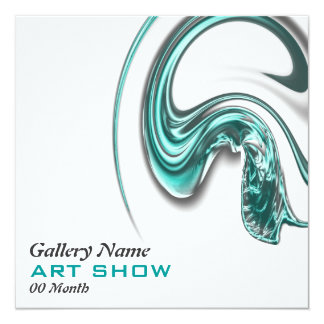 Art show jewelery opening launch CUSTOMIZE 5.25x5.25 Square Paper Invitation Card